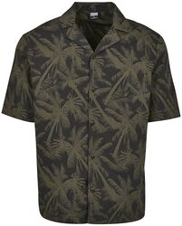 Pattern Resort Shirt Black Palm