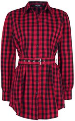 Black/Red Checked Shirt with Belt