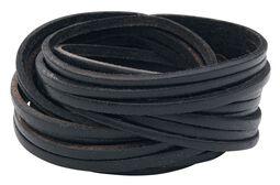 Big Cut Leather Bracelet