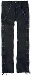 Pete - Black Jeans with Side Lacing
