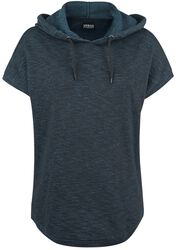 Ladies Melange Sleeveless Terry Hoodie